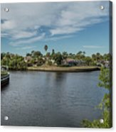 Port Charlotte Adhenry Waterway From Midway Acrylic Print