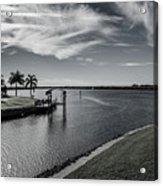 Port Charlotte Bay Harbor Waterway From Ohara Acrylic Print