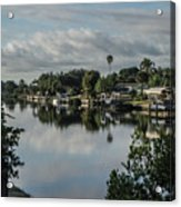 Port Charlotte Elkham Waterway From Tamiami Acrylic Print