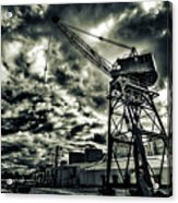 Port Crane At Dusk Acrylic Print