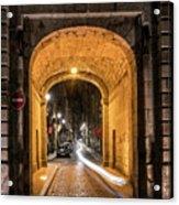 Port Dinan Archway At Night Acrylic Print