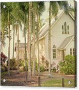 Port Douglas Beach Chapel Acrylic Print