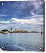 Port Melbourne Harbour Acrylic Print