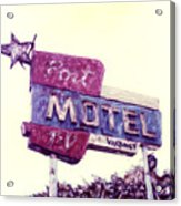 Port Motel Acrylic Print