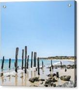 Port Noarlunga Pylons Acrylic Print