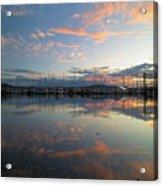 Port Of Anacortes Marina At Sunset Acrylic Print