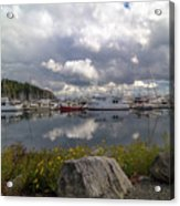 Port Of Anacortes Marina On A Cloudy Day Acrylic Print