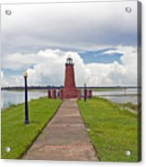 Port Of Kissimmee Lighthouse On Lake Tohopekaliga In Central Florida Acrylic Print
