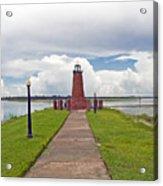 Port Of Kissimmee Lighthouse On Lake Tohopekaliga In Central Florida Acrylic Print