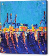 Port Of Malaga Acrylic Print