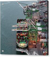 Port Of Oakland Aerial Photo Acrylic Print