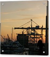 Port Of Oakland Sunset Acrylic Print