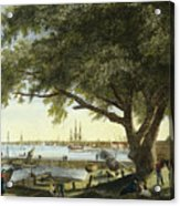 Port Of Philadelphia, 1800 Acrylic Print by Granger
