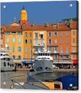 Port Of Saint-tropez In France Acrylic Print by Giancarlo Liguori