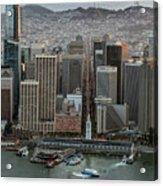 Port Of San Francisco And Downtown Financial District Acrylic Print