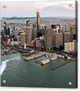 Port Of San Francisco And Downtown Financial Districtport Of San Francisco And Downtown Financial Di Acrylic Print