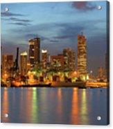 Port Of Singapore With City Skyline Acrylic Print