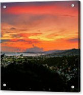 Port Of Spain Sunset Acrylic Print