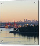 Port Of Vancouver By Stanley Park Acrylic Print