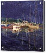 Marina Evening Reflections Acrylic Print