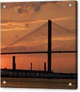 Port Savannah Sunset Acrylic Print