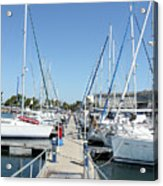 Port With Yacht  Acrylic Print