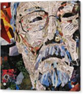 Portait Of David Suzuki Acrylic Print