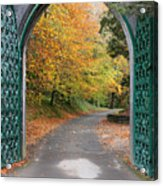 Portal To The Colorful Autumn Season Acrylic Print