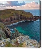 Porth Loe Cornwall At Sunrise Acrylic Print