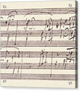 Portion Of The Manuscript Of Beethoven's Sonata In A, Opus 101 Acrylic Print