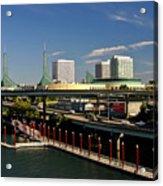 Portland East Bank Acrylic Print