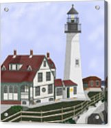 Portland Head Maine on Cape Elizabeth Acrylic Print