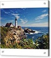 #portland #lighthouse #maine Acrylic Print