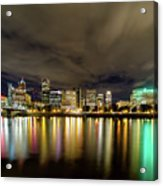 Portland Nightscape Acrylic Print