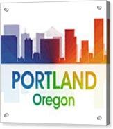 Portland Or Acrylic Print