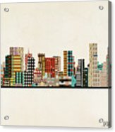 Portland Skyline Acrylic Print