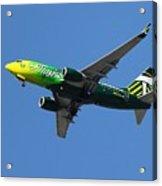 Portland Timbers - Alaska Airlines N607as Acrylic Print by Aaron Berg
