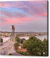 Portland Waterfront Hawthorne Bridge At Sunset Acrylic Print