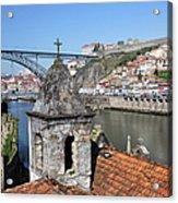 Porto And Gaia Cityscape In Portugal Acrylic Print
