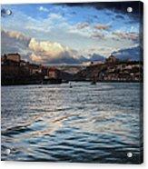 Porto And Vila Nova De Gaia River View Acrylic Print