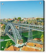 Porto Bridge Skyline Acrylic Print