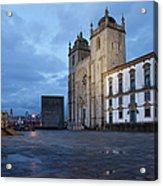 Porto Cathedral And Pillory Column In Portugal Acrylic Print
