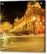 Porto City By Night Acrylic Print