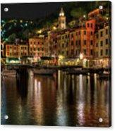 Portofino Bay By Night II - Notte Sulla Baia Di Portofino II Acrylic Print