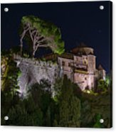 Portofino Bay By Night V - Notte Al Castello Acrylic Print