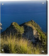 Portofino Green And Blu Liguria Rocks And Sea Acrylic Print