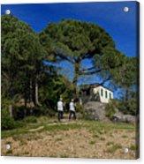 Portofino Trekking Hiking And Walking In The Wood Acrylic Print