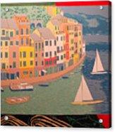 Portofino with birds Acrylic Print