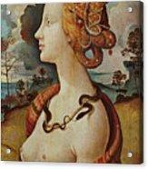 Portrait De Femme Dit De Simonetta Vespucci Acrylic Print