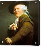 Portrait De L Artiste Sous Les Traits D Un Moqueur 1793 Acrylic Print